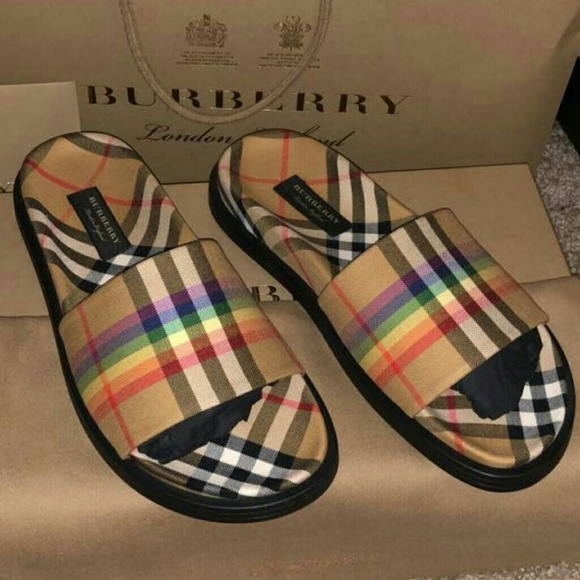 84a4b531fb6 Burberry rainbow vintage slides
